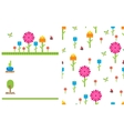 Garden flower party card template vector image