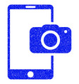 mobile camera grunge icon vector image