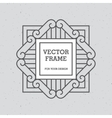 Single Mono Line Frame vector image