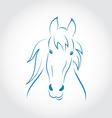 Symbol outline head horse vector image