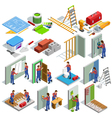 Home Repair Isometric Icons Set vector image