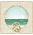 Vintage sea post card vector image