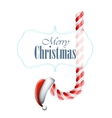 Christmas Candy With Santa Hat vector image vector image