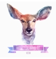 Set of watercolor Cute deer vector image