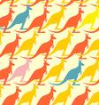 Kangaroo seamless pattern Colored animals vector image
