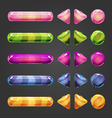 Set of game interface button color-2 vector image