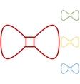 Black Bow Tie vector image