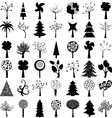 Set of trees vector image