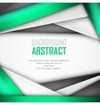 Abstract background of green white and black vector image