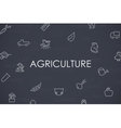 Agriculture Thin Line Icons vector image