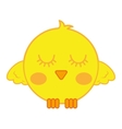 cute bird comic cartoon vector image