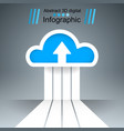 dowvnload cloud arrows icon business vector image