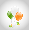 Irish colorful balloons with clovers for St vector image