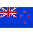 New Zealand flag embroidery design pattern vector image