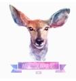 set of watercolor Cute deer vector image