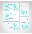 Set of white business visiting cards vector image