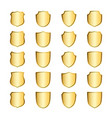 shield gold icons set shape emblem vector image