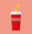 Soft drink in flat style vector image