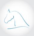 Stylazed emblem horse head vector image