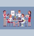 team work in office vector image
