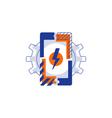 Smartphone technology icon phone app development vector image
