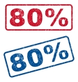 80 Percent Rubber Stamps vector image