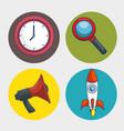 digital marketing technology icon vector image