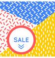 Trendy memphis style discount poster design vector image