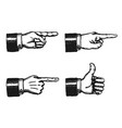 pointing finger and thumbs up sign vector image