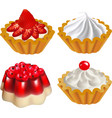 set of fruit desserts with jelly vector image