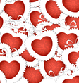 valentines hearts seamless background vector image