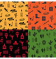 mexican patterns vector image vector image
