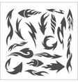 Fire arrows - set vector image