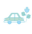 car transportation with power cable and leaves vector image