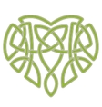 Celtic heart intertwine knot ethnic symbol vector image
