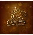 Golden Merry Christmas Card vector image