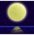 moon over sea vector image