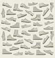Shoes seamless pattern vector image