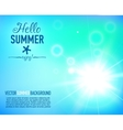 Summer background with a sun burst with lens flare vector image