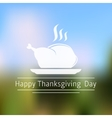 Thanksgiving Day abstract blurred background vector image