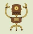 retro robot vector image vector image