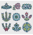 Floral folkloric elements vector image vector image