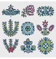Floral folkloric elements vector image