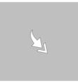 Arrow computer symbol vector image