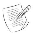 cartoon image of edit icon edit symbol vector image