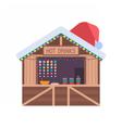 Christmas Market Stall vector image