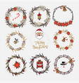 collection of christmas wreaths vector image