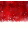 Red Christmas background with snowflakes and stars vector image