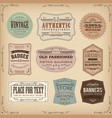 vintage and old-fashioned labels ans signs vector image