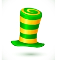 Green and yellow colors striped realistic vector image vector image